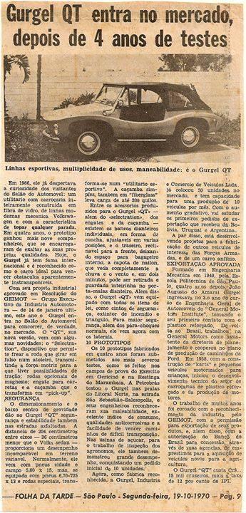 FolhadaTarde-19-10-1970-Gurgel-QT
